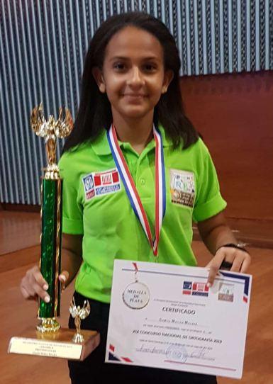 Camila Molina del ISSD 2do lugar en olimpiadas Nacionales